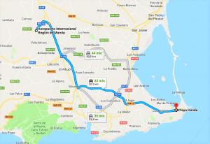 de Aeropuerto Internacional Región de Murcia a Playa Honda  Playa Honda   Google Maps