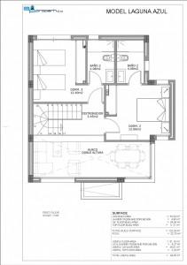 3) Planos Modelo Laguna_Azul Villas de Mar ingles.jpg  1ª PLANTA